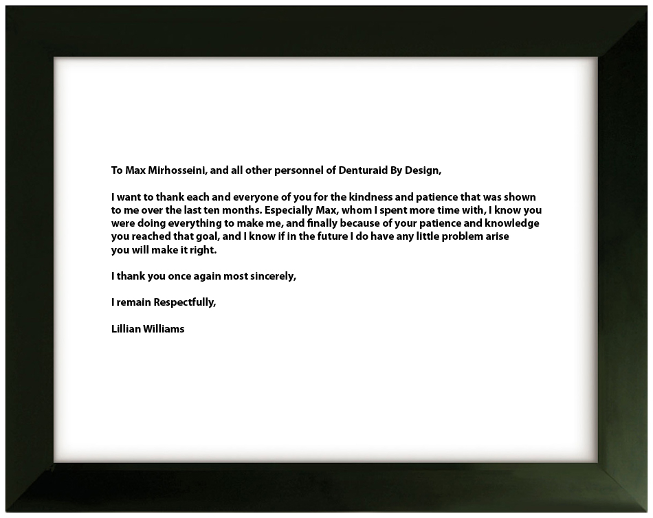 Testimonial 9 - Lillian Williams